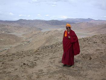 Lama Zopa Rinpoche, Tibet, June 2002. Photo by Ven. Roger Kunsang.