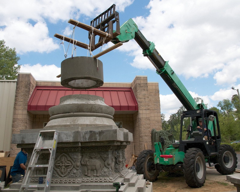 Kadampa Center's Stupa Takes Shape