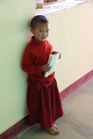 A young nun from the newly established Gephel Shadrubling Nunnery, 2012. Photo by Mary Wellhoner.
