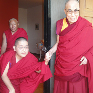 His Holiness the Dalai Lama with His Eminence Ling Rinpoche, January 2013. Photo used with permission.