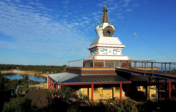 Enlightenment Stupa at De-Tong Ling Retreat Centre, South Australia, January 2013