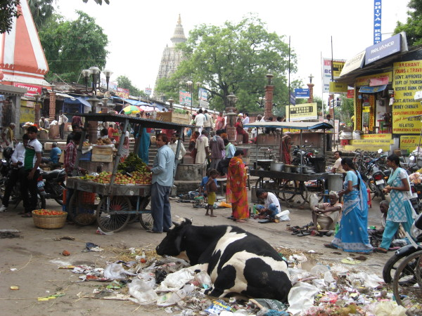 Market in Bodhgaya, India, October 2012. Photo by Jon Landaw.