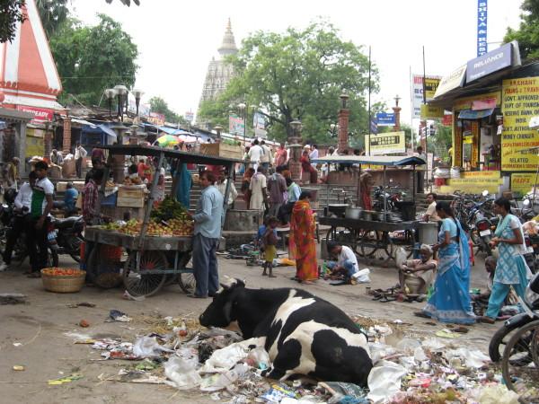 Market in Bodhgaya, India, October 2012. Photo by Jon Landaw.