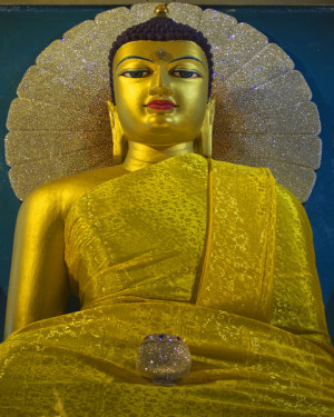 The Mahabodi Temple Buddha, Bodhgaya, India. Photo from Dreamstime.
