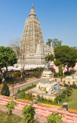 Mahabodhi Temple, Bodhgaya, India. Photo from Dreamstime.