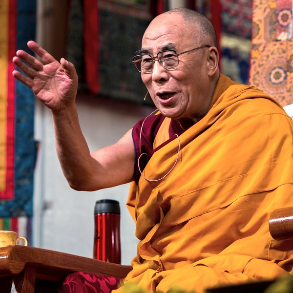 His Holiness the Dalai Lama speaking at Kurukulla Center, Massachusetts, U.S., October 2012. Photo by Kadri Kurgun.
