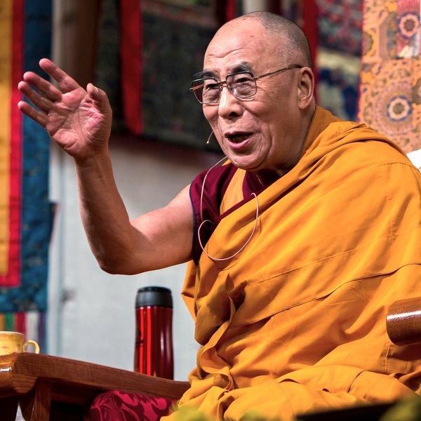 His Holiness the Dalai Lama speaking at Kurukulla Center, Massachusetts, U.S., October 2012. Photo by Kadri Kurgun.
