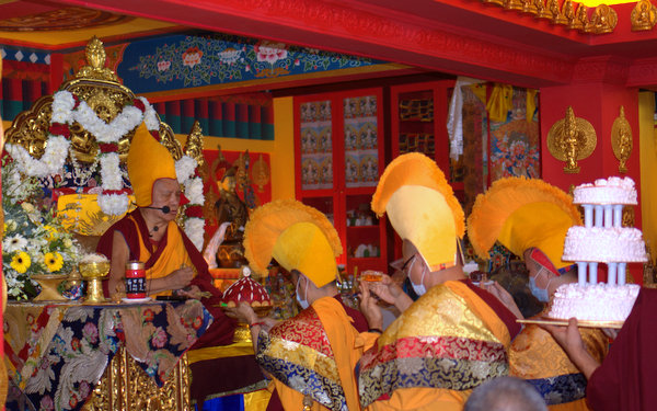 Long life puja for Lama Zopa Rinpoche at Losang Dragpa Centre, Malaysia, March 17, 2013. Photo by Bill Kane.