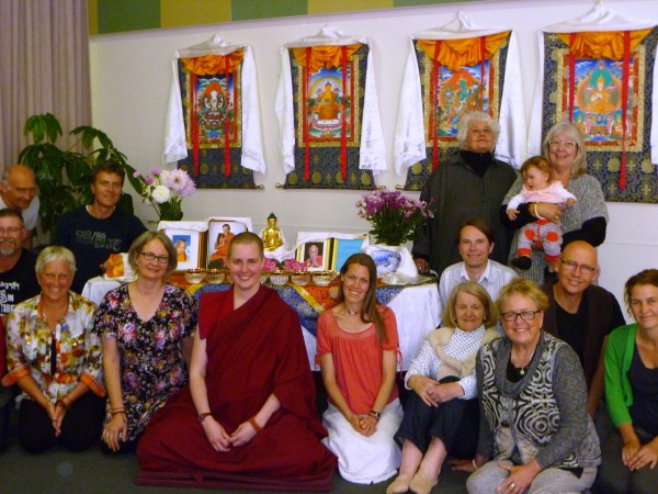 """Ven. Lozang Yonten from Kusang Yeshe Retreat Centre lead """"New Year Resolutions from a Dharma Perspective"""" at the beginning of the year, January 2013. Photo courtesy of Chag-tong Chen-tong Centre."""