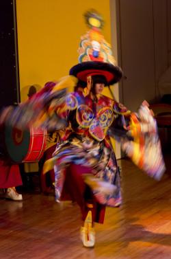 Sera Je monks performed ritual dances as part of Centro Tara Cittamani's 20th anniversary celebration, February 2013. Photo by Flavio Zanchetta.