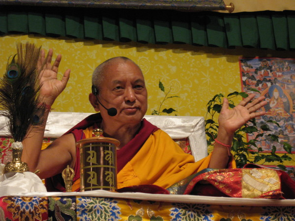 Lama Zopa Rinpoche, CPMT 2009, France. Photo by Ven. Kunsang.