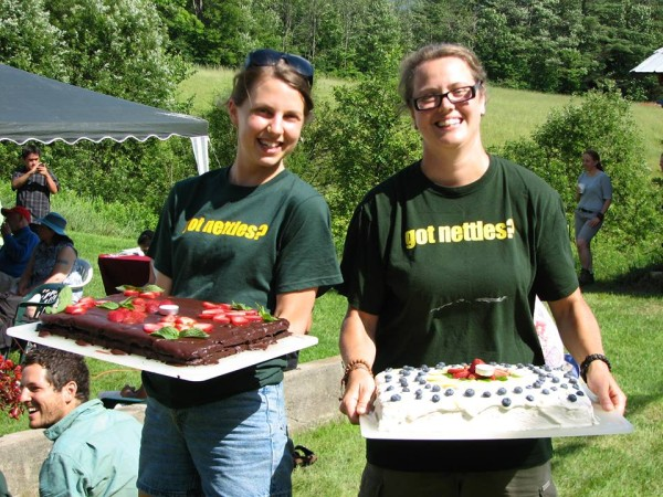 Milarepa Center staff, volunteers, and guest celebrated His Holiness the Dalai Lama's birthday with cake and candles during their interfaith Compassion Day events, Barnet, Vermont, U.S., July 2013. Photo courtesy of Milarepa Center.