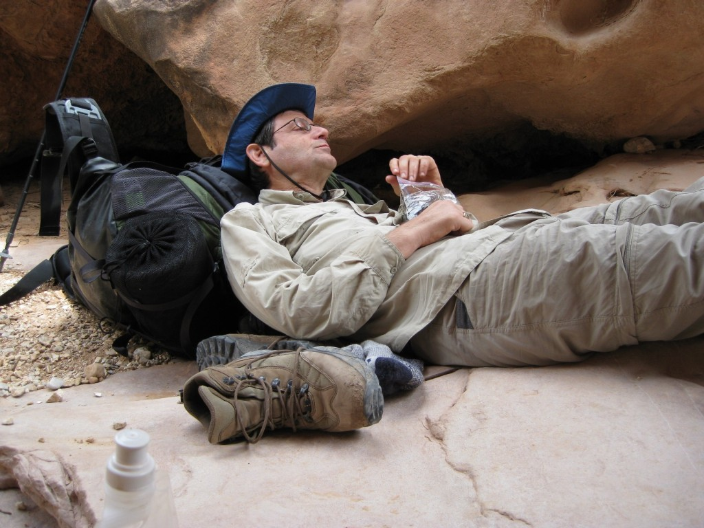 Bob Brintz rests in the Grand Canyon, United States, a year after being diagnosed with ALS (Lou Gehrig's disease). Photo courtesy of Bob Brintz.