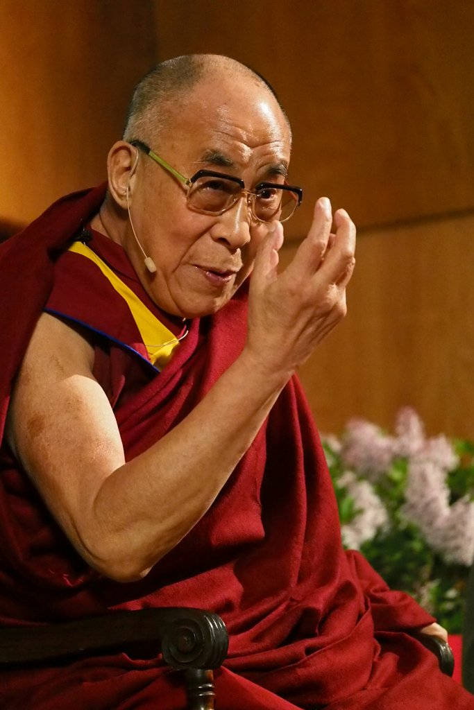 His Holiness the Dalai Lama during a press conference in Portland, Oregon, U.S., May 11, 2013. Photo by Kurt Smith.
