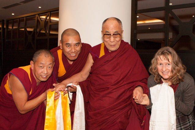 HHDL with NZ Geshes June 2013