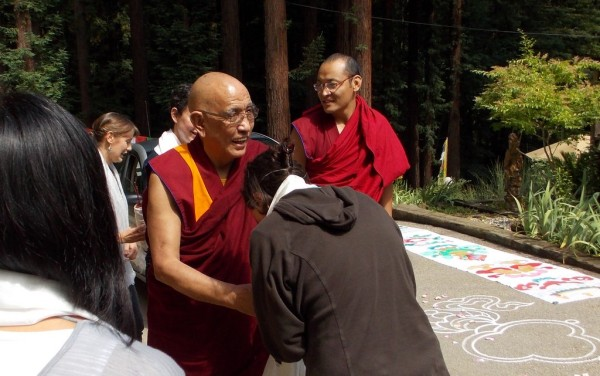 Jangste Chöje arriving at Vajrapani Institute, California, June 11, 2013. Photo courtesy of Vajrapani.