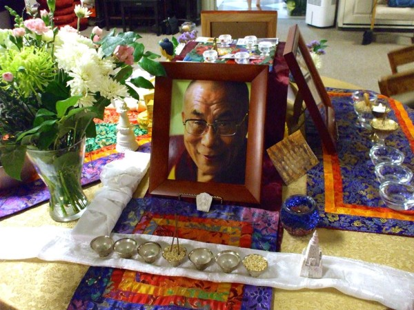Lama Yeshe Ling Centre's Compassion Day 2013 altar, Oakville, Canada, July 2013. Photo courtesy of Lama Yeshe Ling Centre.