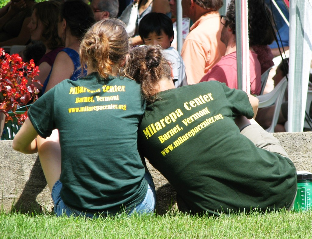 Two friends at the fifth annual Milarepa Day, Milarepa Center, Vermont, US, July 2013. Photo courtesy of Ven. Amy Miller.
