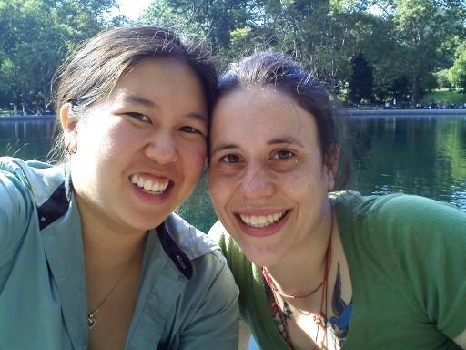 Alison Kaye Harr (right) with partner Irene