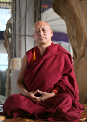 Lama Zopa Rinpoche, Singapore, March 2013. Photo by Ven. Thubten Kunsang.