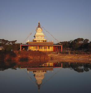 Stupa at De-Tong Ling Retreat Centre, Kangaroo Island, Australia, September 2011. Photo by George Manos.