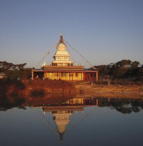 Stupa at De-Tong Ling Retreat Centre, Kangaroo Island, Australia, September 2011. Photo by George Manos.