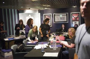 Event staff at work, Australia 2013. Photo courtesy DLIA.