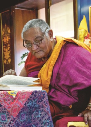 Khensur Jampa Tegchok, Istituto Lama Tzong Khapa, November 2011. Photo by Marina Brucet Vinyals.