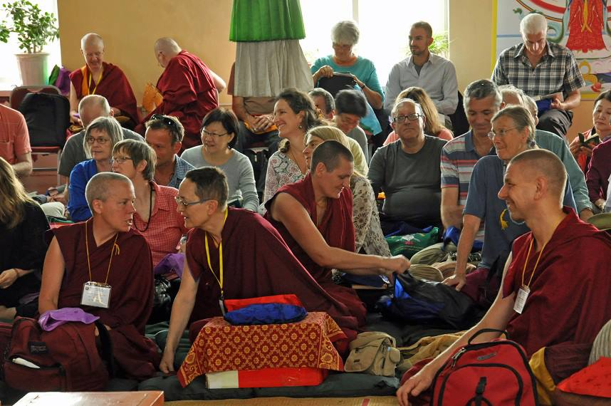 Participants of 100 Million Mani Retreat, Mongolia, August 2013. Photo courtesy of FPMT Mongolia's Facebook page.