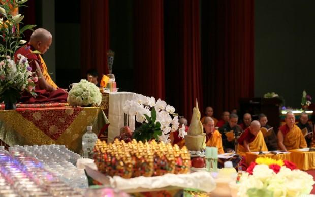 Lama Zopa Rinpoche, Taipai, Taiwan, February 25, 2013. Photo by Ven. Thubten Kunsang.