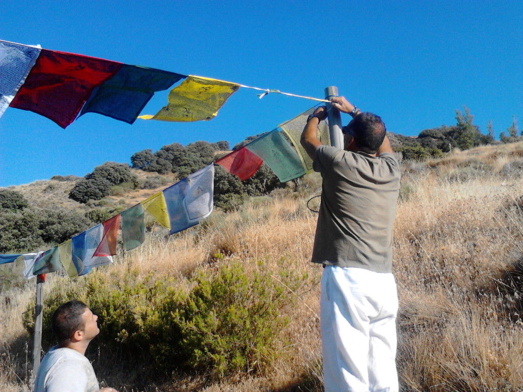 prayer flags at oseling spain august 2013