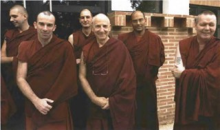 From left: Vens. Lobsang Gendun, Yonten, Lobsang, Tsultrim, Gelek, and Sherab