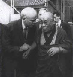 Tom Flynn with His Holiness the Dalai Lama