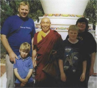 From left, Henk, Julian, Geshe Doga, Marten and Helen