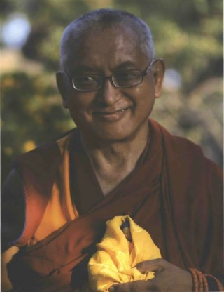 Lama Zopa Rinpoche in Italy, 2008. Photo by Thubten Kunsang.