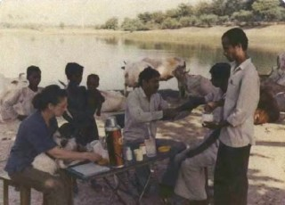 Leprosy clinic at Jindapur in 1991.