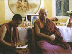 Choden Rinpoche (right)