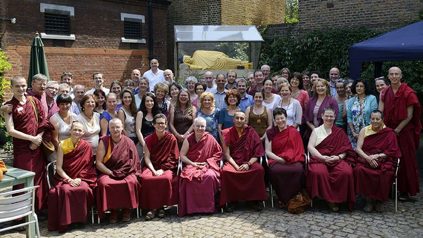 Participants in European Regional Meeting, Jamyang Buddhist Centre, July 2013. Photo by Natascha Sturny.