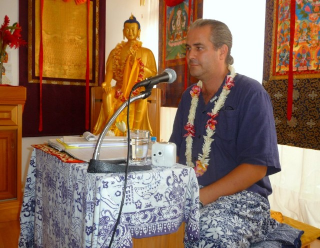 Sixte Vicotte at Naropa Meditation Center, Tahiti, September 2013. Photo courtesy of center.