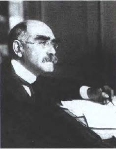 Rudyard Kipling in 1899 when he was working on Kim. Portrait by Philip Burne- Jones.