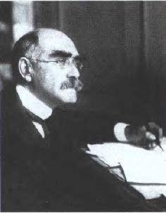 Rudyard Kipling in 1899 when he was working on Kim. Portrait by Philip Burne- Jones.