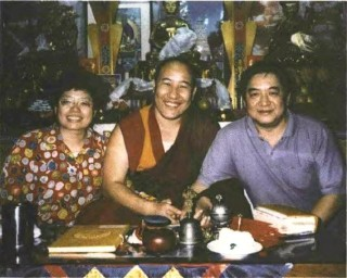 Lee Tie-Shen (right) with Shen Mel-Chen and Ven. Woser Rinpoche.