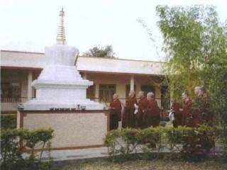 Lama Zopa Rinpoche visits Sera IMI House.