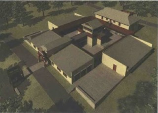 Architectural rendering of the future Kalachakra center. Image by Allen McLane Chambliss, Jr.