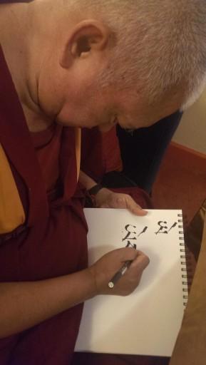 Lama Zopa Rinpoche, Aptos, California, September 2013. Photo by Ven. Roger Kunsang.