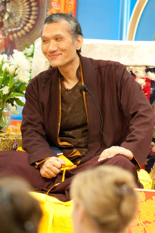 Yangsi Rinpoche, Maitripa College, Portland, Oregon, February 2009. Photo by Marc Sakamoto.