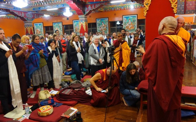 Rinpoche talks to participants of the November course at Kopan Monastery, November 22, 2013.