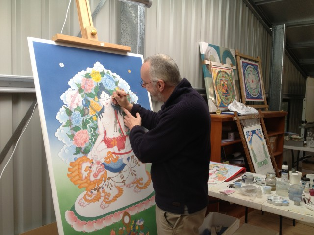 Ray Furminger, Garden of Enlightenment's artist in residence. Photo courtesy of Garrey Foulkes.