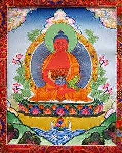 Amitabha Buddha Thangka. Image courtesy of FPMT Foundation Store.