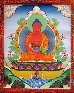 Amitabha Buddha Thangka. Image courtesy of FPMT Foundation Store.